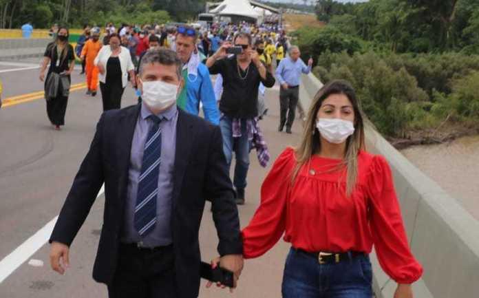 Prefeito Sérgio Lopes prestigia inauguração da ponte sobre o rio Madeira