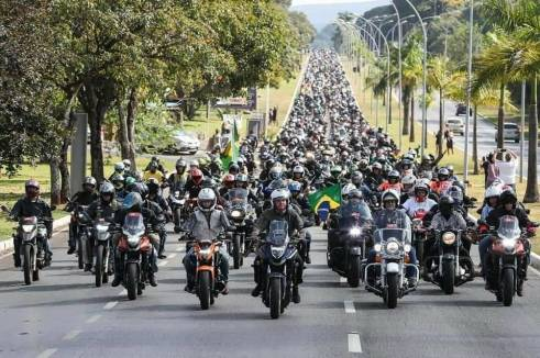 Bolsonaro-motoqueiros