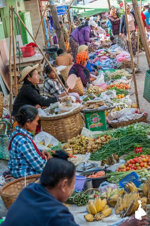 Piata in Myanmar, Shan State