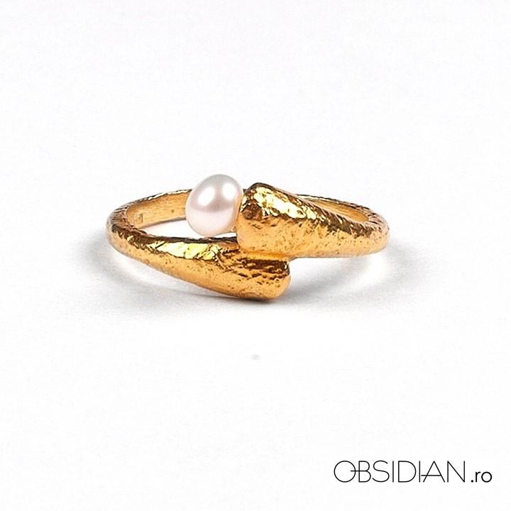 Inel Obsidian_Cadou de Craciun_Happytude by Oana Botezatu_