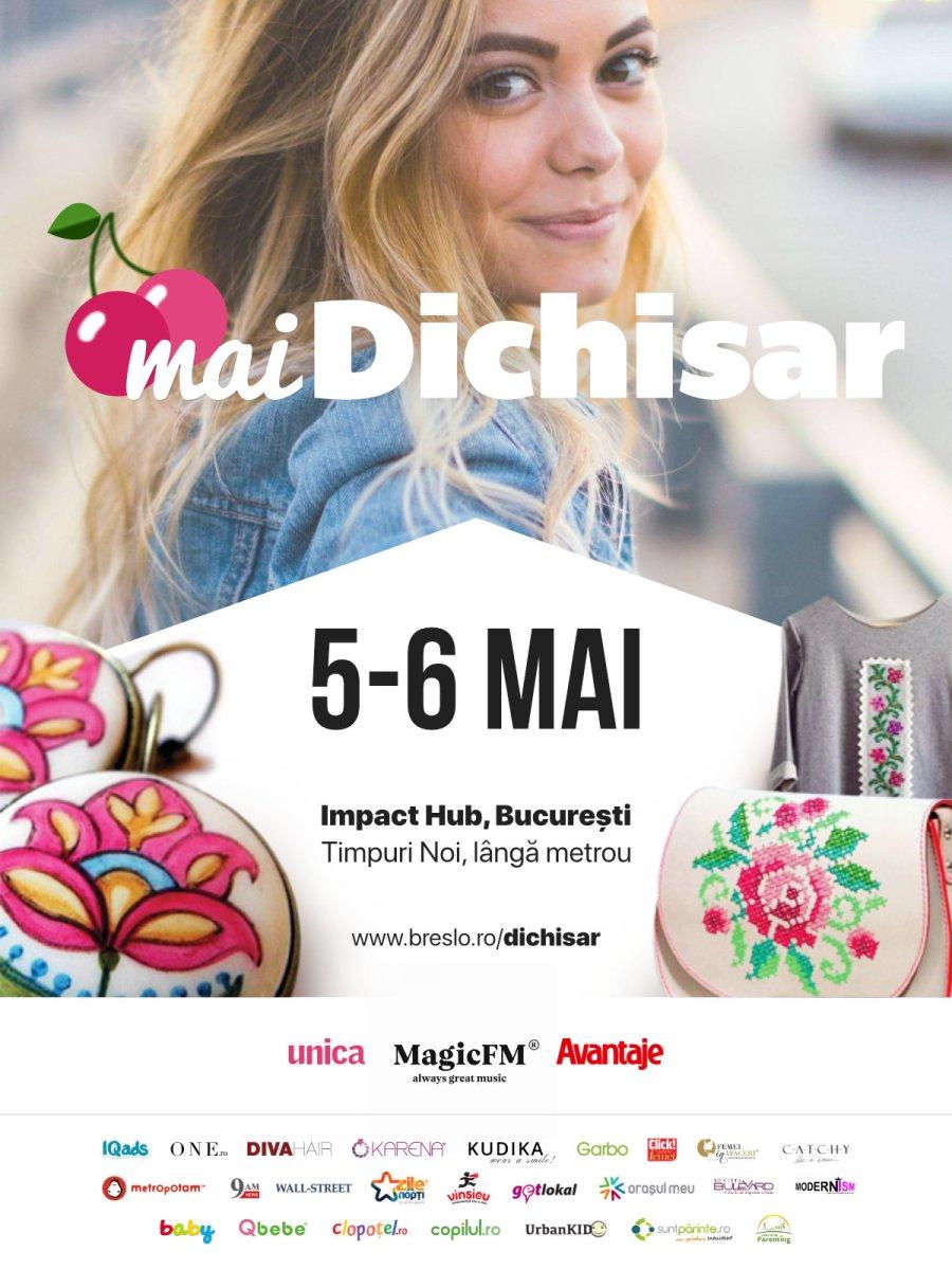 #deWeekend. Mai fun, mai fresh, mai dichisit - târgul #maiDichisar, 5-6 mai
