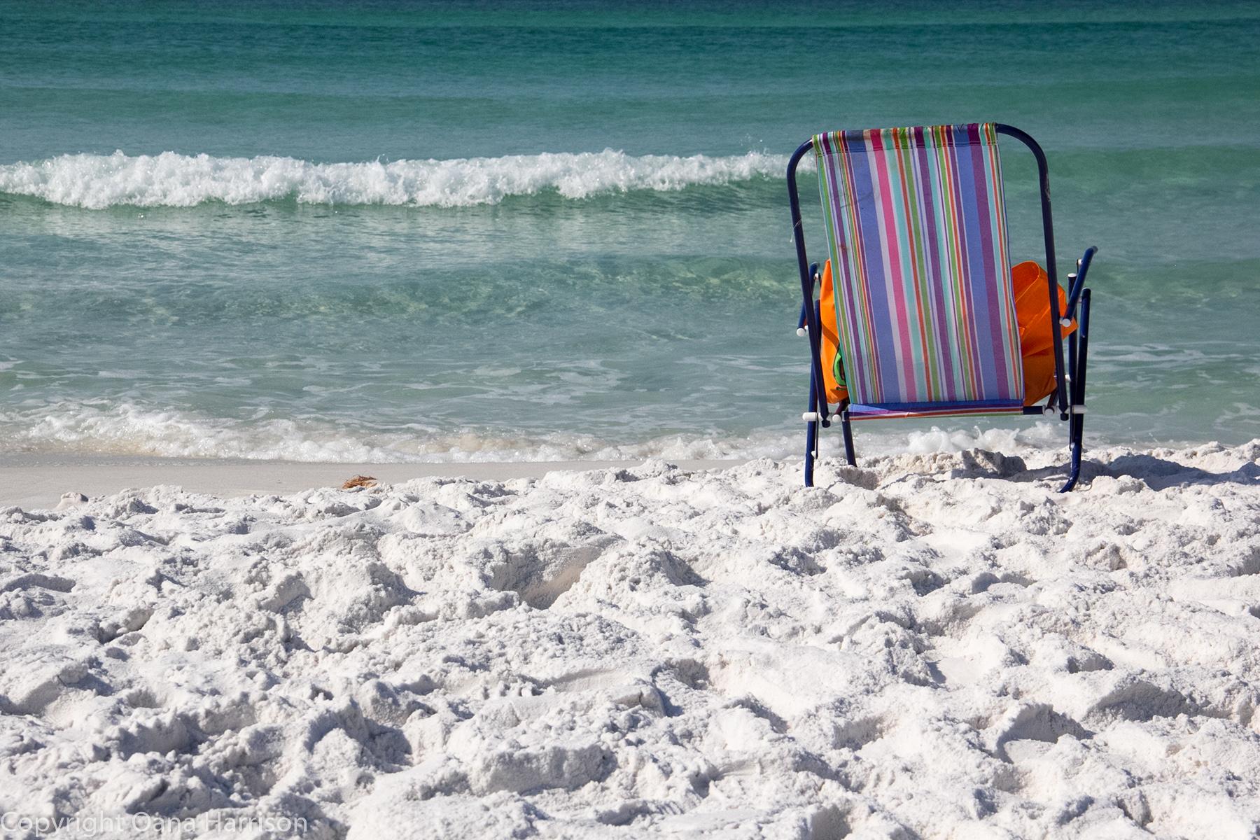 Colorful beach chair Miramar Beach Florida Oana Harrison
