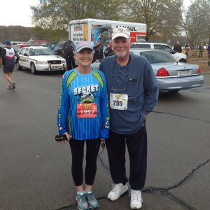 Keith McDaniel and wife at marathon