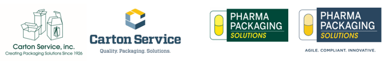 Carton Service and Pharma Packaging Solutions new brand identity