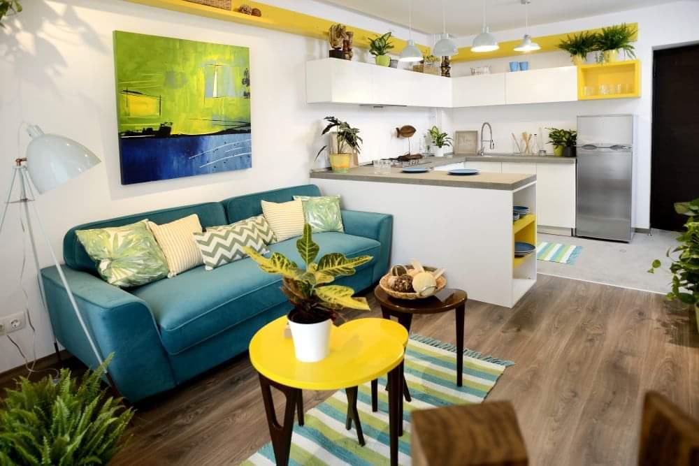 Design interior Adela Parvu casa culori proaspete verzi