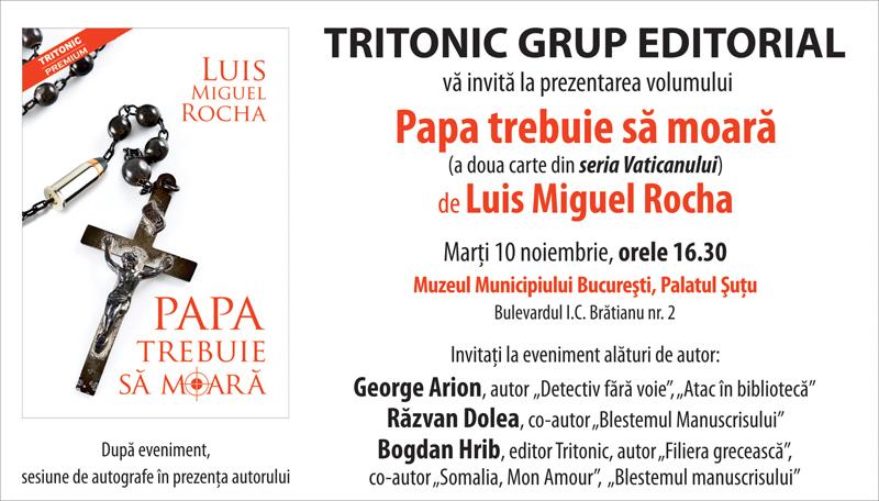 Invitatie Papa Bucuresti
