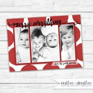 Xmas Card Red PolkaDots