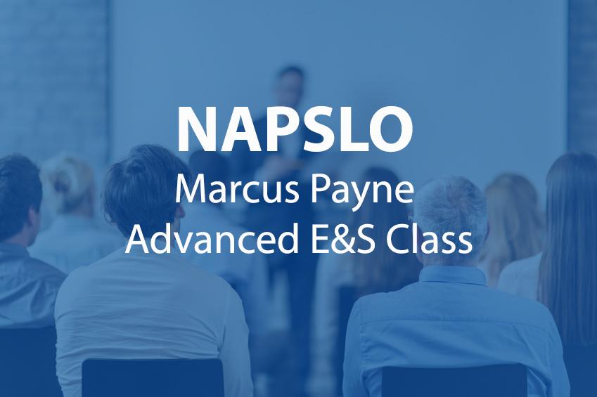 NAPSLO marcus payne advanced