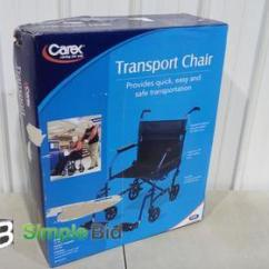 Carex Transport Chair Patio Tall Table And Chairs Simplebid Inc Appears Unused In Box Weight Capacity 300lbs
