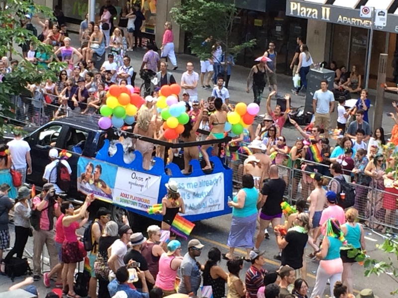 AQF's on the Oasis Aqualounge Float for the Pride Parade