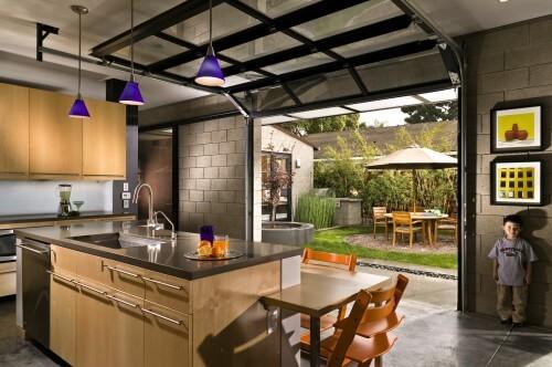 garage door living room black white and green ideas versatility of glass doors kitchen