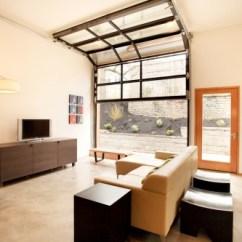 Garage Door Living Room Half Wall Tiles In Versatility Of Glass Doors