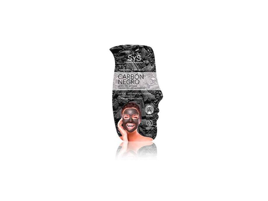 Mascarilla Facial Peeling Carbón Negro 10ml  SyS