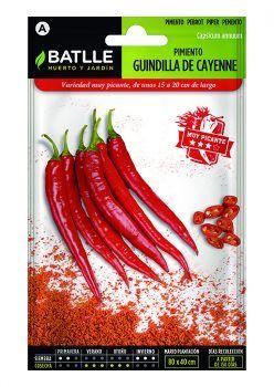 Semillas Pimiento Guindilla de Cayenne Rojo Batlle
