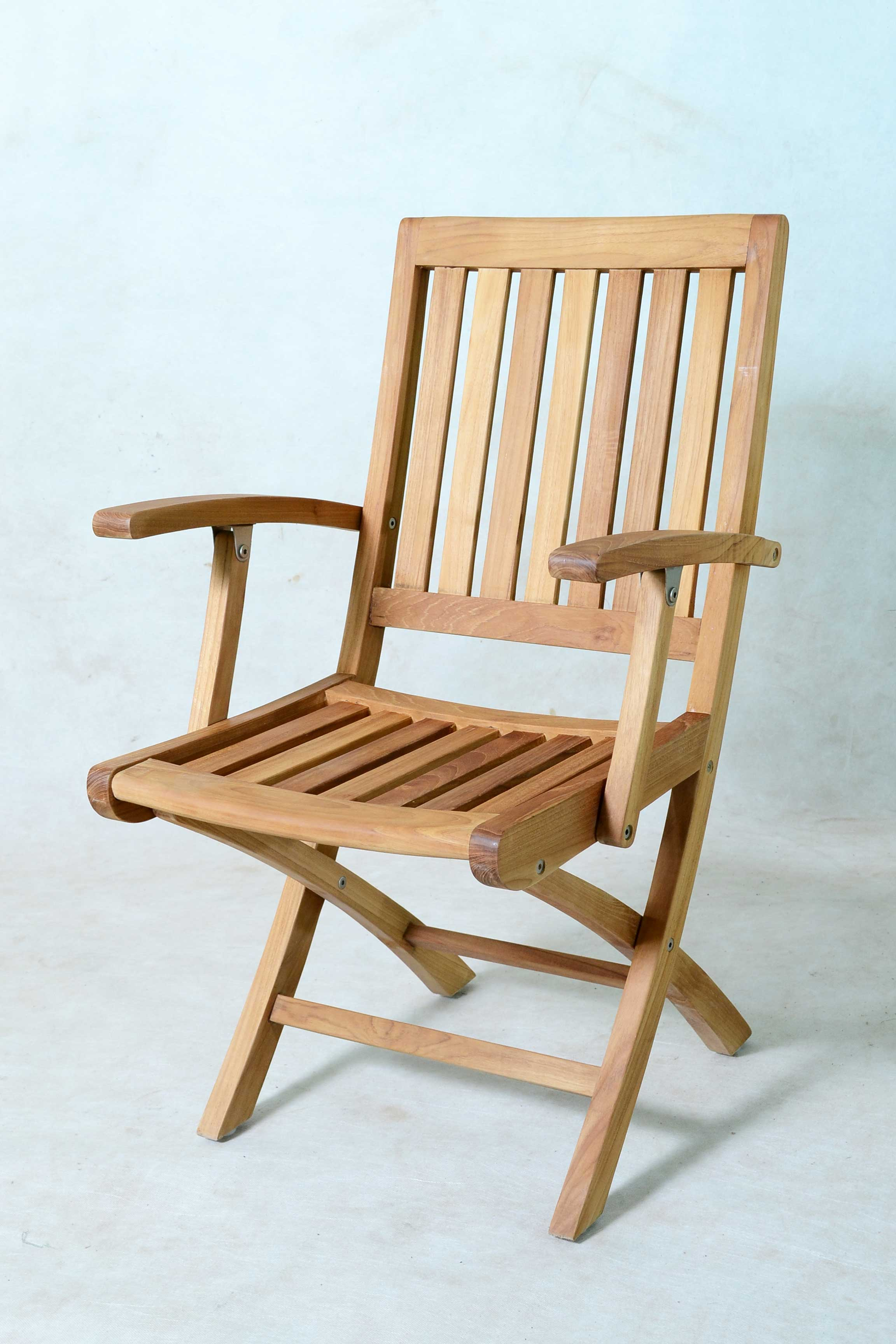 Folding Arm Chair Toraja Folding Arm Chair With Cushion