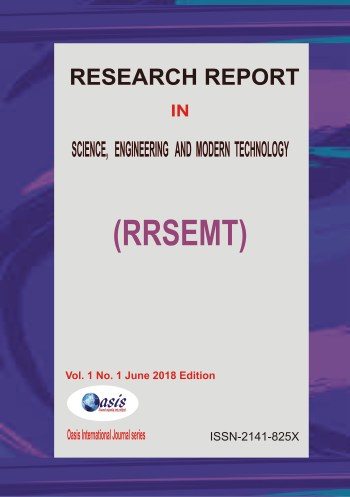 Research Report in Science, Engineering and Modern Technology Vol. 1 No.1