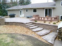 Backyard Fire Pit with Seat Wall and Paver Patio - Oasis ...