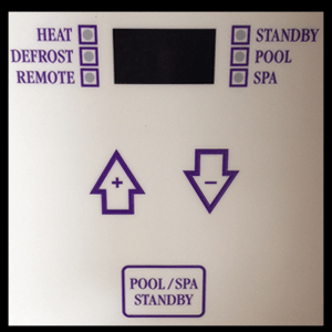 oasis pool heater control panel