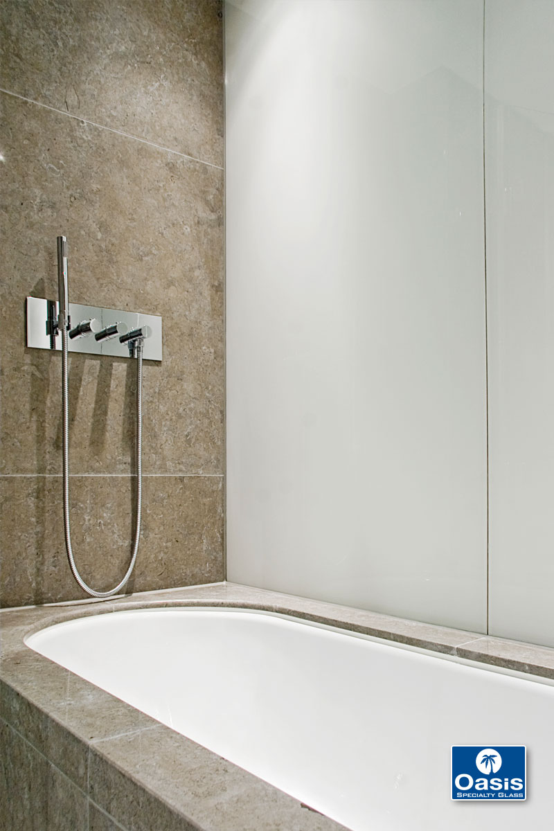 Back Painted Glass Amp Backsplashes Oasis Shower Doors