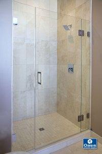 Frameless Glass Shower Spray Panel | Oasis Shower Doors MA ...