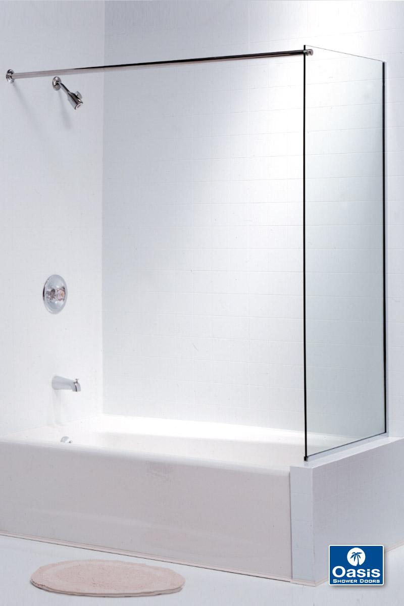 Frameless Glass Shower Spray Panel  Oasis Shower Doors MA