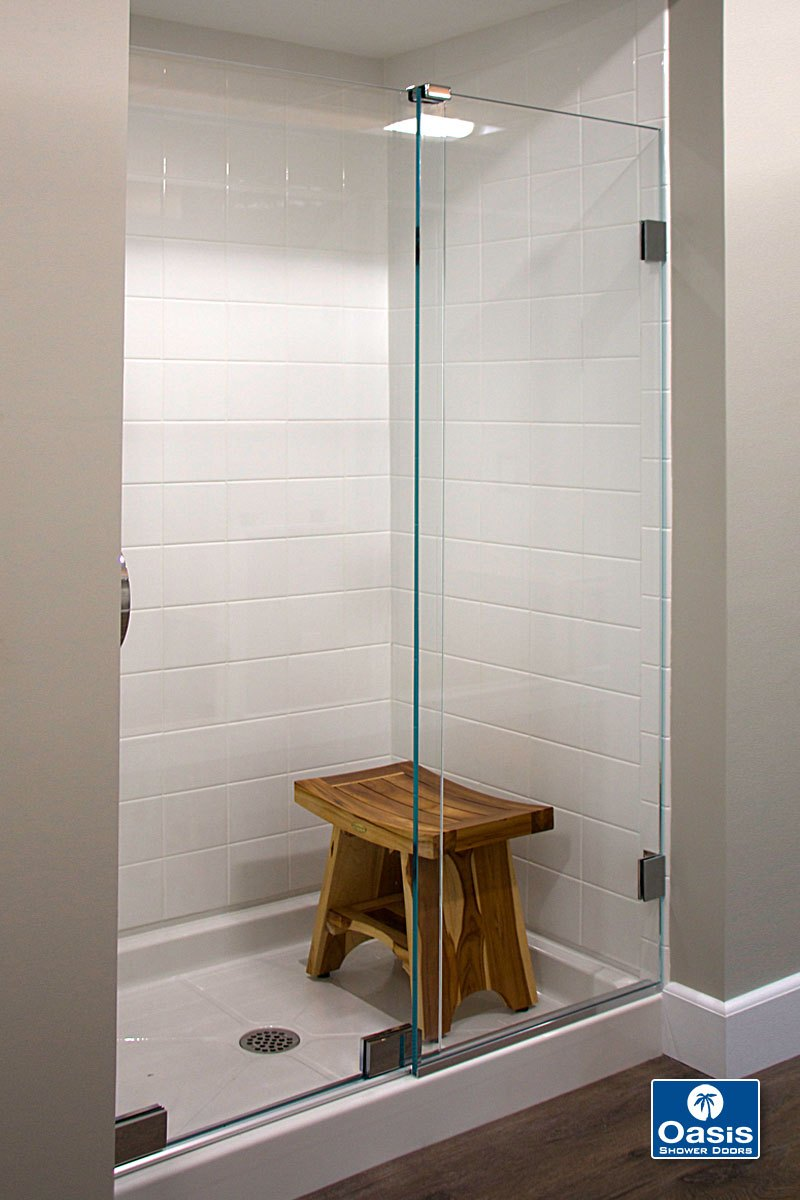 Frameless By Pass Sliding Shower Doors Oasis Shower