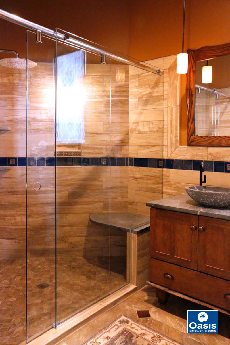 Frameless ByPass  Sliding Shower Doors  Oasis Shower