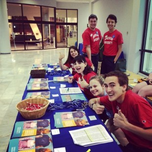 Patty Kavs (far right) is killing it as an Orientation Leader this summer!