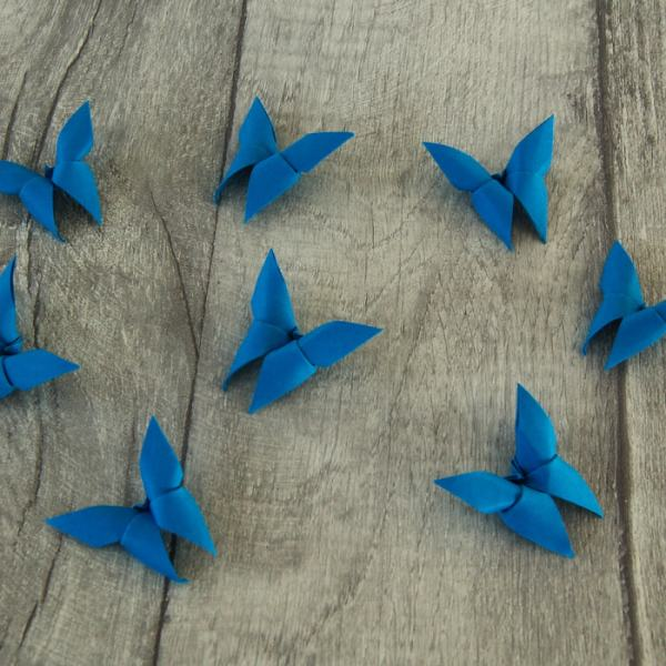 Origami-Butterfly-Wedding-Party-Table-Scatters-Confetti-Handmade-Dark-Blue-Oast-House-Gifts
