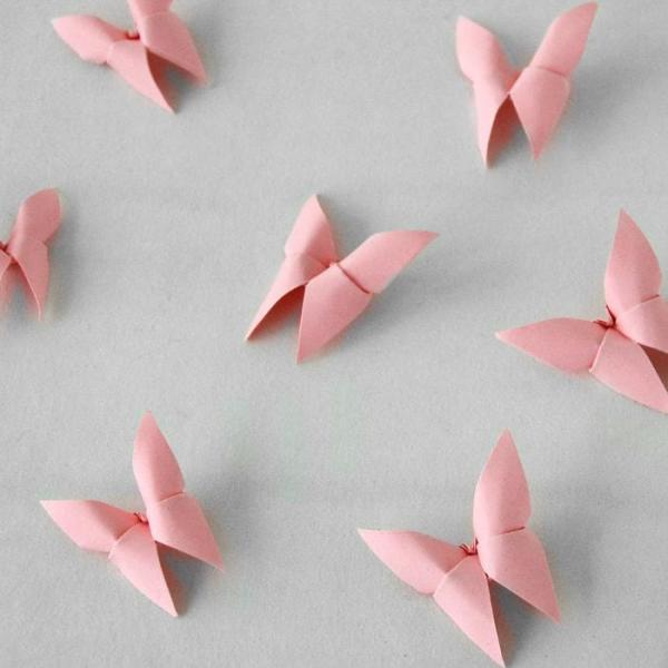 Origami-Butterfly-Wedding-Party-Table-Scatters-Confetti-Handmade-Light-Pink-Oast-House-Gifts
