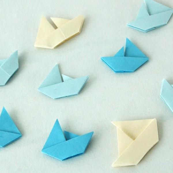 Origami-Sailboat-Wedding-Party-Baby-Shower-Table-Scatters-Confetti-Handmade-Cream-Baby-Blue-Oast-House-Gifts