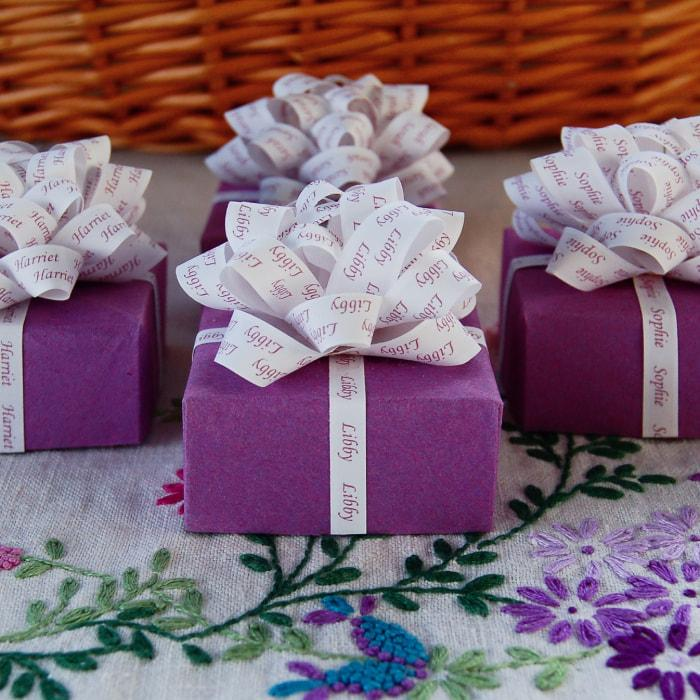 Celebration & Occasion Supplies Personalised Ribbon BOW for gifts cake flowers Christmas Birthday Wedding etc wrapping ribbon