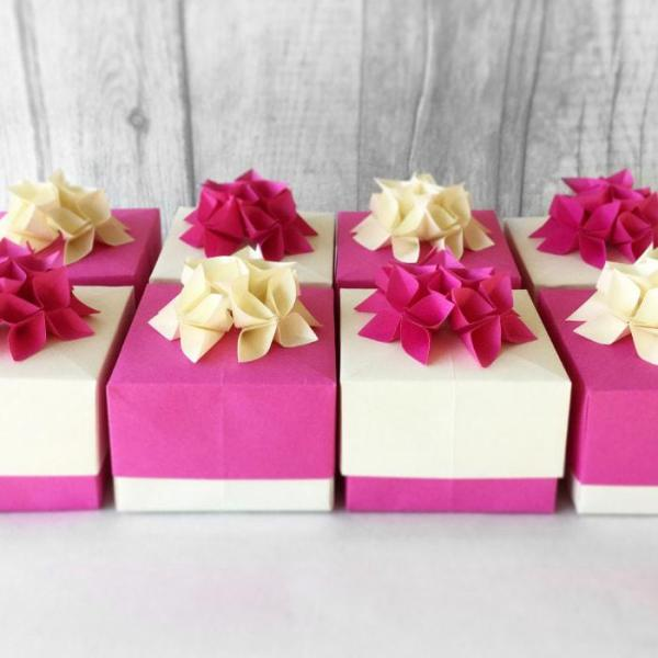 Wedding-Favour-Boxes-Handmade-Origami-Flowers-Boxes-Fuchsia-Pink-Oast-House-Gifts