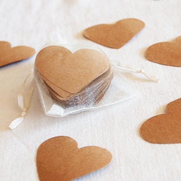 Wedding-Party-Table-Scatters-Paper-Confetti-Hand-Stamped-Hearts-Brown-Paper-Oast-House-Gifts