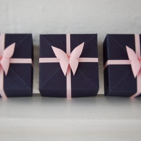 Handmade-Wedding-favour-navy-Pink-butterfly