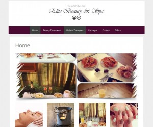 website design case study beauty salon