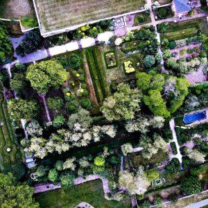 Aerial image of gardens
