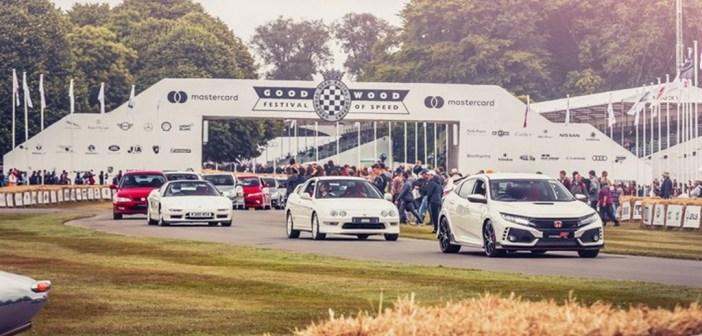 Honda uczciła 25-lecie modeli Type R i Fireblade na Goodwood Festival of Speed