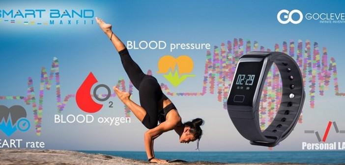 GOCLEVER Smart Band MAX FIT – zaawansowana opaska fitness monitorująca  ciśnienie krwi.