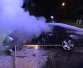 FOTO | W Stanisławowie spłonął doszczętnie luksusowy Bentley.