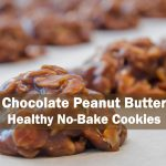 Chocolate Peanut Butter Healthy No bake Cookies