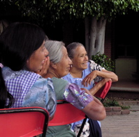 Abuelas at the baptism