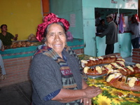 Soledad with new year bread