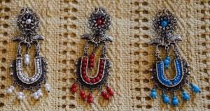 Frida Style Filagree Silver Earrings