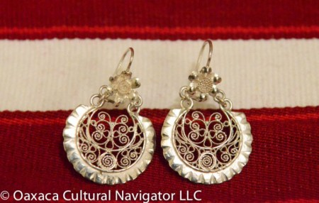 New silver filigree earrings by Mario Perez