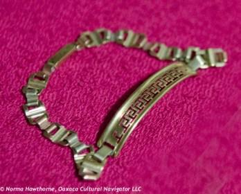 10k gold tri-color bracelet, $300.