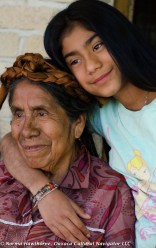 Grandmother & granddaughter, Teotitlan del Valle