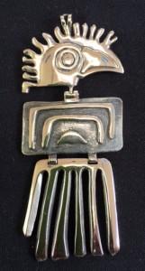 "Eagle pendant, 3-1/2""long x 1-5/8"" wide, $245."