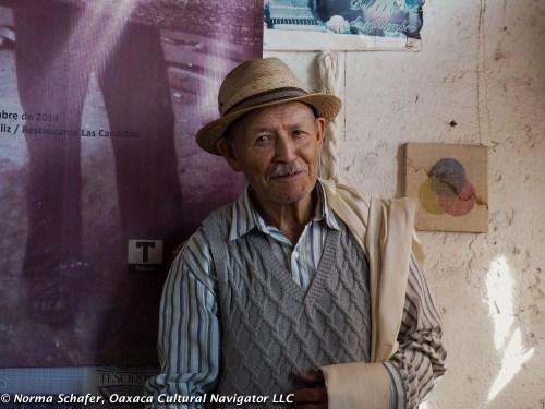 Evaristo Borboa Casas, 90 year old rebozo weaver, Tenancingo, EdoMex