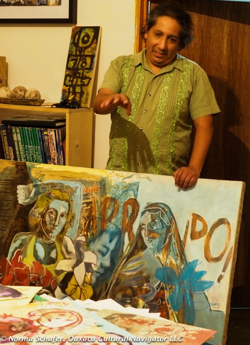 Optional visits to artist studios, like Gabo Mendoza